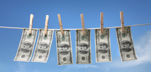 money-clothesline